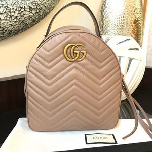 Gucci Marmont GG Dusty Pink Backpack / Purse